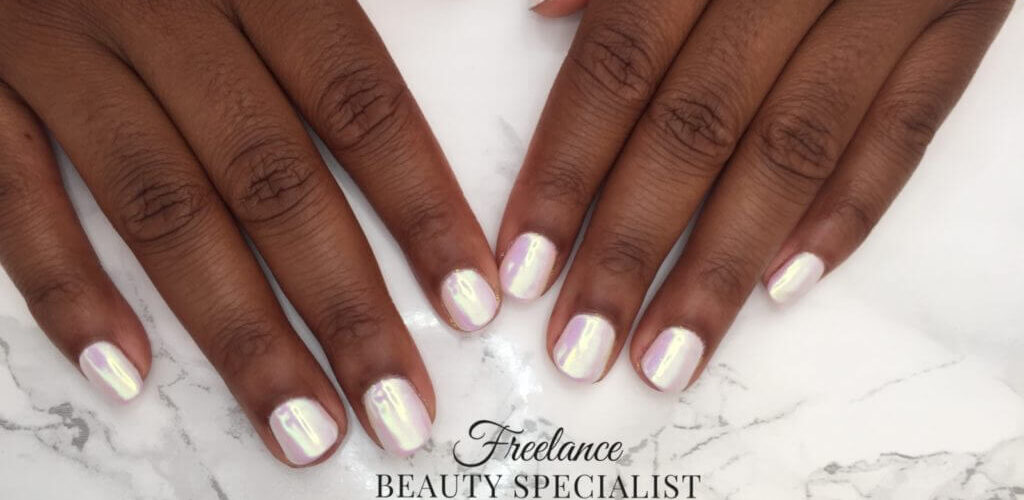 White porcelain nails freelance beauty specialist birmingham