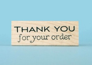 thank you for order