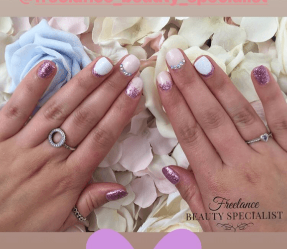 client custom gel nails freelance beauty specialist birmingham